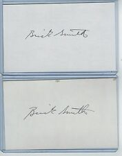 (2) BRICK SMITH INDEX CARD SIGNED 1987-88 YANKEES MARINERS PSA/DNA CERTIFIED