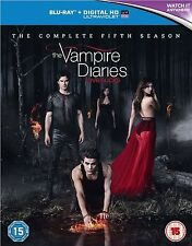 VAMPIRE DIARIES Complete Series 5 BLU RAY All Episodes Fifth Season UK Release