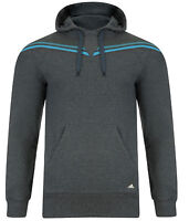 Mens New Adidas Hooded Sweatshirt Hoodie Hoody Jumper Top Sweater - Grey