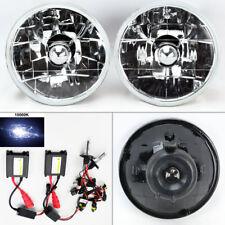 """5.75"""" 5 3/4 Round 10K HID Xenon H4 Clear Glass Headlight Conversion Pair"""