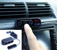 1x Multi-use Car USB Phone Charger 3-way Cigarette Lighter Socket Touch Control