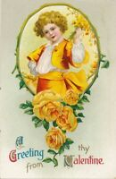 VALENTINE'S DAY - Dressed in Yellow A Greeting From My Valentine - 1911