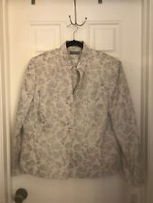 Kate Hill Woman Size 22W NWT 2 Piece Suit Jacket Skirt Floral Grey