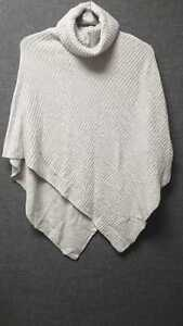 Mint Velvet Grey Roll Neck Knitted Poncho RRP £34 One Size LN015 DD15