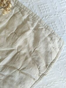 Southern Living HEIRLOOM LINEN Quilted KING Sham Linen Natural
