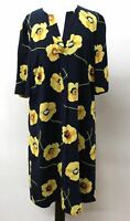 HOBBS Ladies Faye Blue Multi Short Sleeve V Neck Floral Tunic Dress UK10 BNWT
