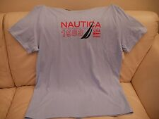 NEW WT MEN'S NAUTICA COOLBREEZE LIGHT BLUE ATHLETIC T-SHIRT V6102L 2XL