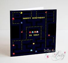 Retro Arcade Game PAC MAN Birthday Card - Son Boyfriend Husband