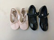 Toddler ballet and tap shoes Freestyle size 10