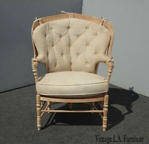 Vintage French Country Bernhardt Peacock Side Chair Off White