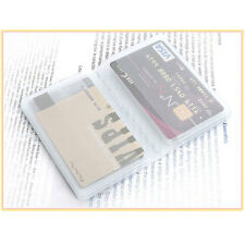 Plastic Wallet Insert Replacement Bifold Credit Card Holder 10 pages 20 slot New