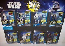 Retired nisp Star Wars CLONE WARS Walmart Exclusive 8 Multi Figure Pack (set D)