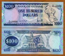 Guyana, 100 dollars, ND (1999), P-31 Sig 11, UNC