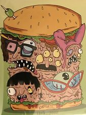Bam box exclusive bobs burgers 8x10 print, signed by barge.