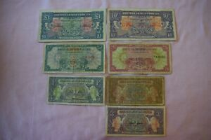 7 x BRITISH ARMED FORCES Banknotes: Early issues, VERY nice collector grouping