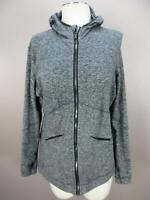 Brooks Size L Womens Gray Full Zip thumb Holes Hooded Jacket 681