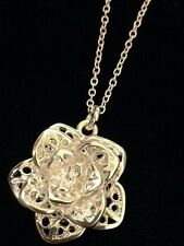 STERLING 3D ROSE PENDANT WITH 18 INCH STERLING CHAIN