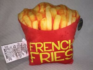 """Almar Sales Company Expressions Plush Pillow FRENCH FRIES 12.6"""" x 12.6"""" x 3.94"""""""