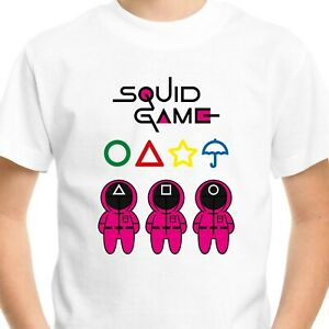 Squid Game T-Shirt Men's Adults Kids Gift Birthday Netflix Fan Gamer Top Tee V2