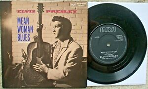 Elvis Presley - Mean Woman Blues / I Beg Of You - RARE 1989 45 + PS PB 49473