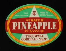1950s Bottle Label Pineapple Tocumwal Cordials Tocumwal NSW Australia Denison Co