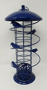Finch Design Wild Bird Feeders Fat Ball Suet Feeder Station with Hanging Loop