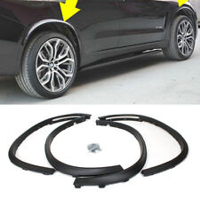 4PCS Black PP Wheel Arch Fender Flares Cover Trims BodyKit for BMW X5 F15 14-16