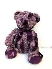 Dennis Basso Faux Fur Teddy Bear Purple Lilac Zebra PEBBLED FEATHERS QVC Stuffed