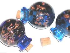 1 pc Large Murano Glass Crystal Ball essential oil perfume bottle cork pendant *