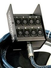 Whirlwind Medusa Standard Audio Snake: 8 inputs, 0 returns, 25 ft