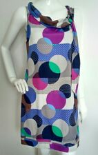 MONSOON silk tunic dress size 12 --MINT-- 100% silk fully lined loose fit