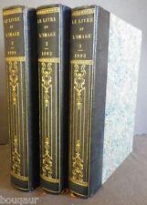 Bibliographie J. Grand-Carteret Le Livre et l'Image 3 vol. reliés 1893-94 ROBIDA