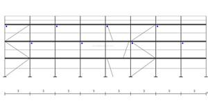 Gerüst Typ Plettac 24x8,5m Durchstieg Fassadengerüst Holzböden Baugerüst 204 qm
