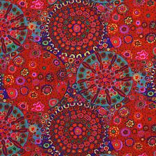 Fat Quarter Kaffe Fassett Millefiore RED  - Cotton Quilting/Patchwork Fabrics