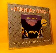 MAXI Single CD KEN LASZLO Hey Hey Guy / Don't Cry 3TR 1992 italo disco