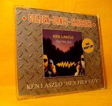 MAXI Single CD KEN LASZLO Hey Hey Guy / Don't Cry 3TR 1992 italo disco