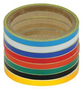 Bikeit Versatile Reflective Tape-Rolls Wheel/Body Stripes Red - 7MM