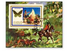 KASFUJ8701 Dogs, horses, butterflies - scouting block CANCELED FUJEJRA 1987