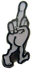 WALKING MIDDLE FINGER HAT OR JACKET PIN pin54 new jacket lapel metal flip bird