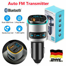 Auto FM Transmitter Bluetooth Kfz Radio Adapter mit Dual USB Ladegerät für Handy
