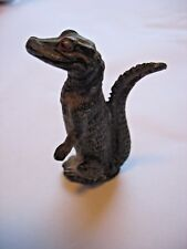 "Antique standing Alligator metal animal Heyde Germany 3"" Albert Alerta UF mascot"