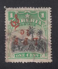 Liberia # M6c Postally Used Inverted LFF 1 C Variety 1916 Military