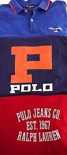 LOT VINTAGE 90s Ralph Lauren POLO SPORT mens L t shirt SPELLOUT flag varsity