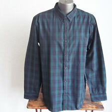 OURCASTE Punk Rock Tartan Parochial Plaid Slim Fit 'KEVIN' Cotton Shirt XL NWT
