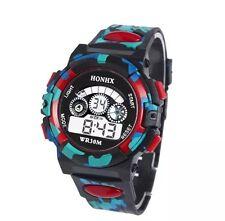 Reloj de pulsera Reloj Pulsera Digital De Cuarzo Alarma Fecha Cronómetro Hombre Niño bgrd (