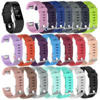 Replacement Silicone Wristband Watch Band Strap Sport Belt For Fitbit Charge 2