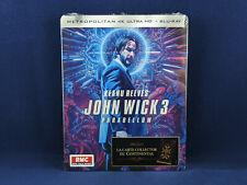JOHN WICK 3 Parabellum 4K Steelbook Exclusive UHD VF Bluray Keanu reeves **NEW**