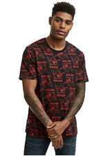 True Religion Buddha Mono Crewneck Cotton T-shirt in Black/red Sz.medium