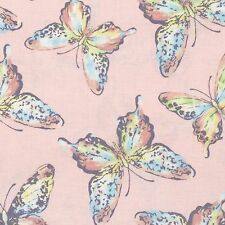 Fabric Butterflies Pastels on Pink Cotton by the 1/4 yard BIN