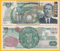 Mexico 10 Nuevos Pesos p-95(3) 1992 (Serie P) UNC Banknote